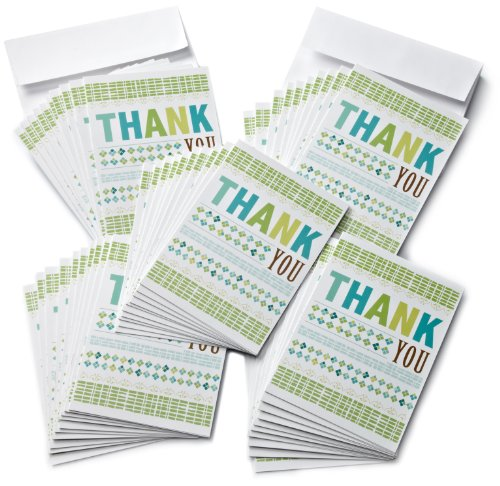 Amazon.com $25 Gift Cards, Pack of 50 with Greeting Cards (Thank You Design)