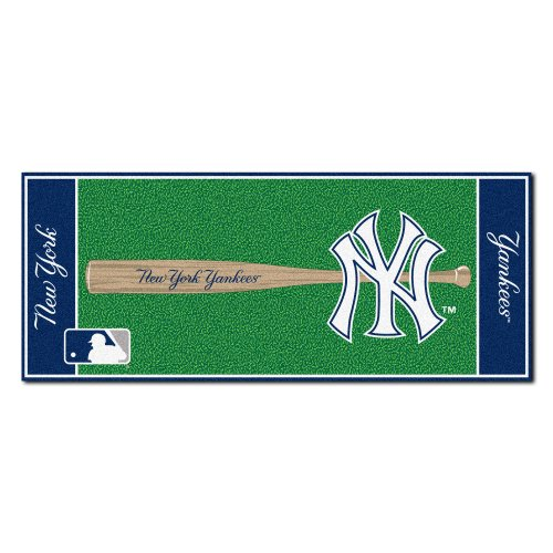 FANMATS MLB New York Yankees Nylon Face Football Field Runner