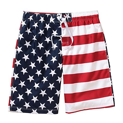 [Faded Glory Men's Patriotic USA American Flag Board Shorts Swimwear (3X, Stars and Stripes)] (Ninja Suits For Sale)