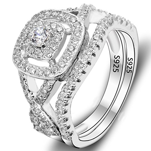 EVER FAITH Sterling Elegant Engagement product image