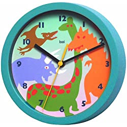 BAI Children Wall Clock, Dinosaurs