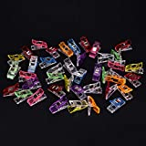 EASYG 10PCS Plastic Clip Mini Multicolor Wooden Clothe Photo Paper Peg Clothespin Craft Decor Clip