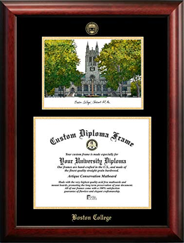 (Campus Images Boston College Eagles Gold Embossed Diploma Frame Lithograph )