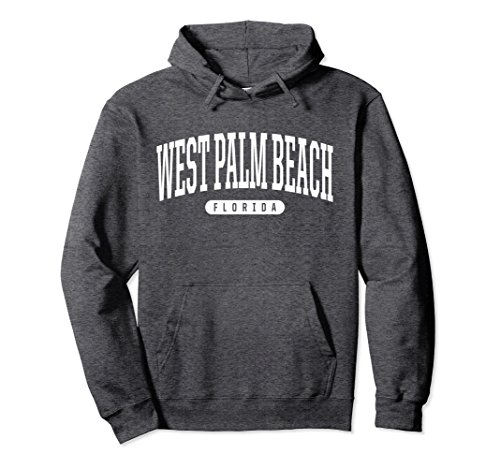 Unisex West Palm Beach Hoodie Sweatshirt College University Style U 2XL Dark - Palm West Beach U Fit