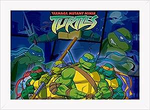 Cuadro Decorativo Tortugas Ninja 4: Amazon.es: Hogar