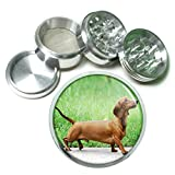Dog Dachshund 02 4Pc Aluminum Grinder Review