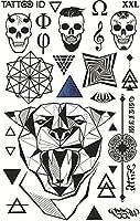 Tatuaje ephemere temporal Hombre Maori Jaguar calavera Animales ...
