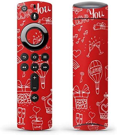 igsticker Fire TV Stick 第2世代 専用 リモコン用 全面 スキンシール フル 背面 側面 正面 ステッカー ケース 保護シール 006278 その他 ハート イラスト