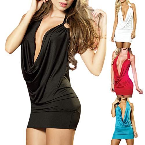 Simayixx Women's Nightgown Cotton Nightwear Slim Sleepwear Lingerie Lace Mini Dress Sexy V Neck Pajama Camisole Blouses Black by Simayixx (Image #4)