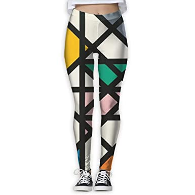 c196604715c53 Women's Skinny Yoga Pants, Color Geometric Pattern 3D Print Fitness Sports  Leggings Jogger Pants
