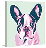 Marmont Hill MH-MOLROS-09-C-48 French Bulldog by Molly Rosner Painting Print on Wrapped canvas 48x48 French Bulldog by Molly Rosner Painting Print on Wrapped canvas 48x48,Multicolor,48x48