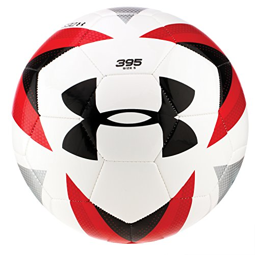 Under Armour Desafio 395 Soccer Ball, White/Risk Red, Size 5