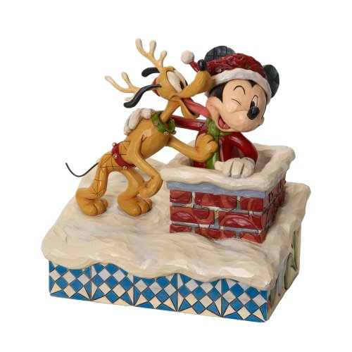 (Enesco Disney Traditions Designed by Jim Shore St. Mick W/Pluto The Reindeer Figurine 7 in)