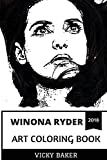Winona Ryder Art Coloring Book: Stranger Things Star and Iconic 90s Actress, Legendary Goth Queen and Talent Inspired Adult Coloring Book (Winona Ryder Coloring Books)