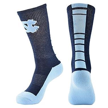 NCAA North Carolina Tar Heels Women's Champ Performance Crew Socks, Blue, Medium