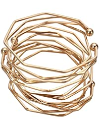 4 Pack Fashion Simple Three-Dimensional Irregular Bracelet Bracelets for Women Girl