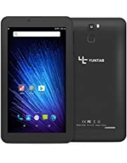 Yuntab Quad Core Tablet PC 7 pollici 8GB 1024 x 600 Android 6.0 1.3 GHz Dual SIM 3G WiFi (Nero opaco)