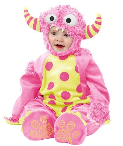 [Charades Mini Monster - Pink, - New Born] (Infant Girl Monster Halloween Costume)