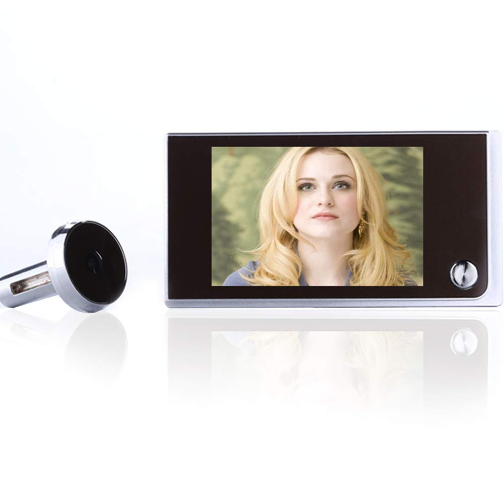 Doorbell Security Camera Multifunction Home Security 3.5 inch LCD Color Digital TFT Memory Door Peephole Viewer 120 Degree Wide Angle
