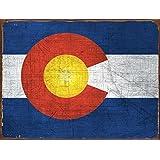 Colorado Flag Metal Sign, Vintage Sign, Rustic Decor