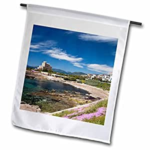 Danita Delimont - Italy - Italy, Sardinia, Alghero, Villa Las Tronas - EU16 WBI2553 - Walter Bibikow - 12 x 18 inch Garden Flag (fl_82231_1)
