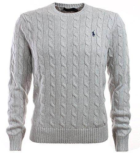 Polo Ralph Lauren Herren Pullover Zopfmuster grau Größe XXL