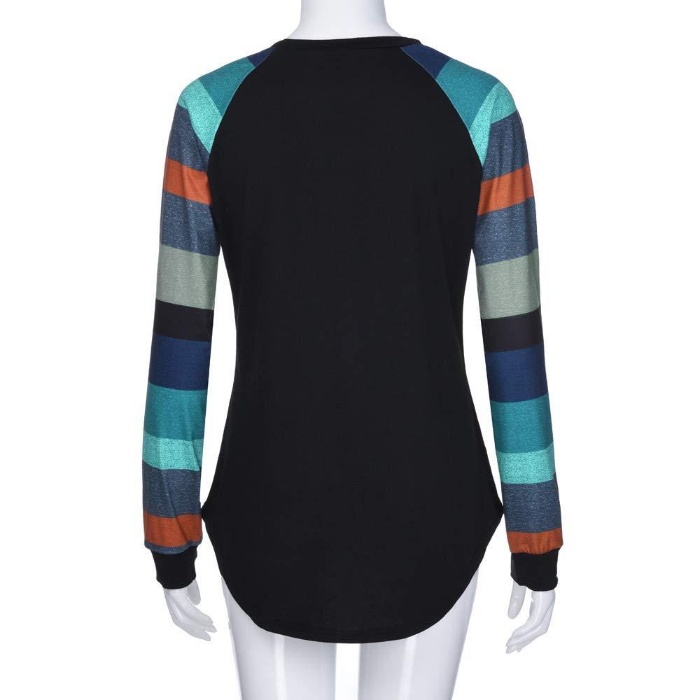 Innerternet Mode Damen Frauen Rundhals Lange H/ülsen Splei/ß Blusen Oberseiten Kleidung T-Shirt Tops Pullover Weihnachtspullover Sweatshirt