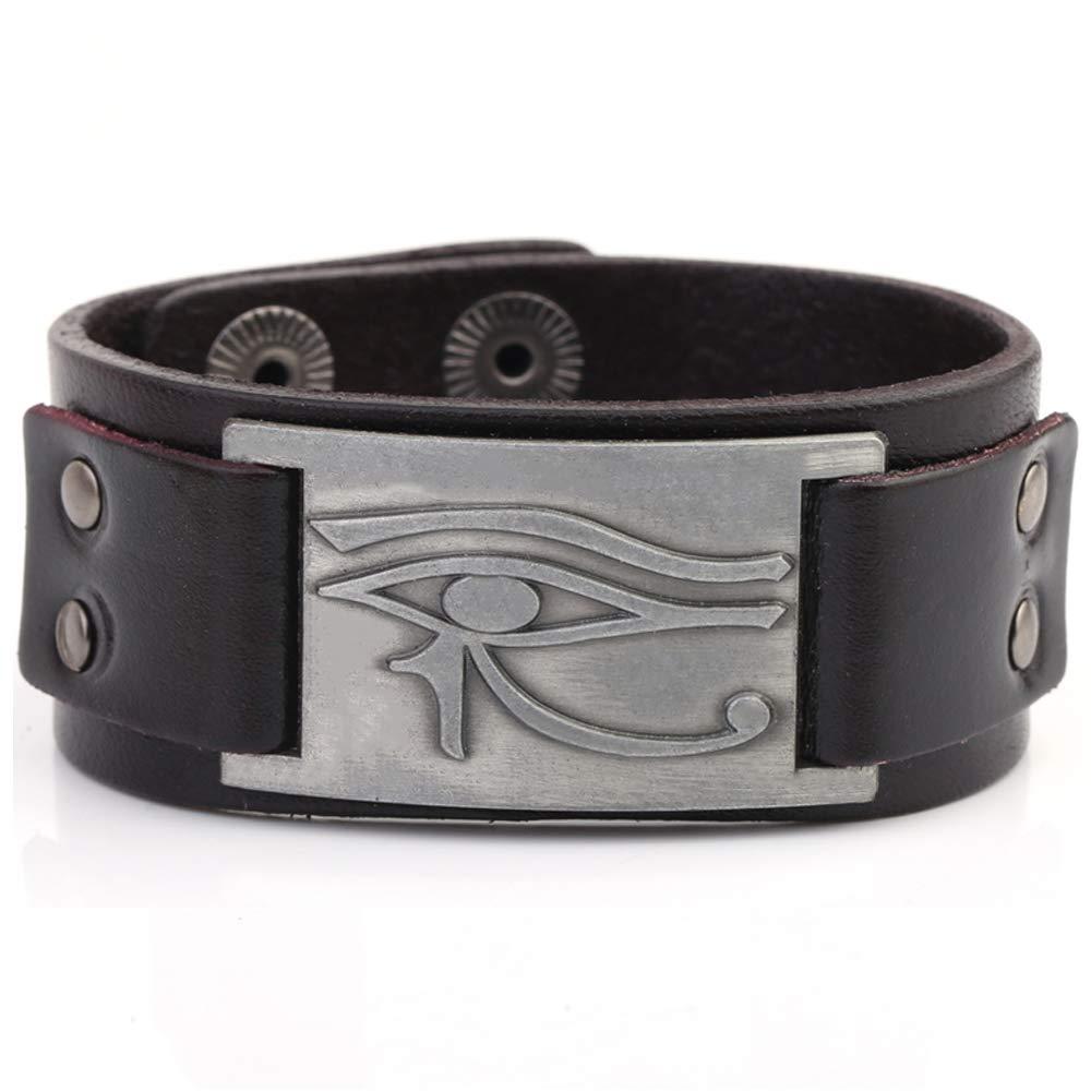 My Shape Mi Forma Ojo de Horus Ra Tot Udjat Leather Cuff Pulsera Amuleto Egipcio Pagan Joyas