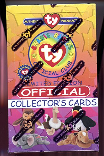 1998 Ty Beanie Babies Set Wax Pack Box Trading Card Premier Edition Series 1 (Ty Beanie Babies Trading Cards)