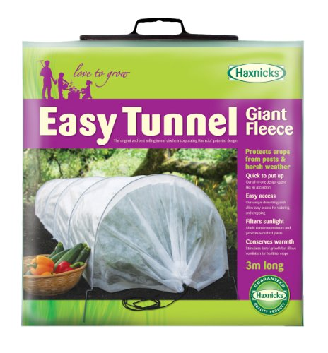 Tierra Garden 50-5010 Haxnicks Easy Fleece Tunnel Garden Cloche, - Fabric Cover Row