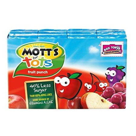 Mott's for Tots, Fruit Punch, 6.75 Ounce Juice Boxes (Pac...