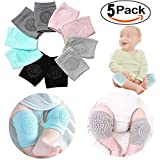 5 Pair Baby Knee Pads Crawling Anti-Slip Knee for Unisex Baby Toddlers Kneepads