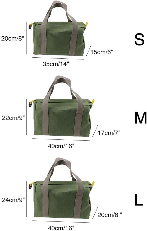 szdc88 Canvas Tool Bag,Portable Multi-Function Thick Electrician Bag Wear-Resistant Outdoor Repair Kit Bag High Capacity Case Handbag with Handle