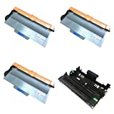 HI-VISION HI-YIELDS ® Compatible Toner Cartridge Replacement for Brother TN750 + Compatible Drum Unit Replacement for Brother DR720 (3 Toner, 1 Drum, 4-Pack), Office Central