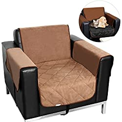 UEETEK One-Seat Sofa Slipcover Waterproof Pets Dog Cat Sofa Chair Cover Furniture Protector (Khaki)