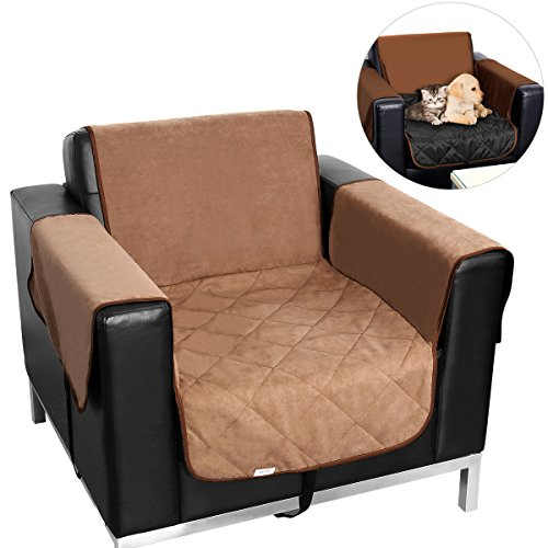 UEETEK One-Seat Sofa Slipcover Waterproof Pets Dog Cat Sofa Chair Cover Furniture Protector (Khaki)