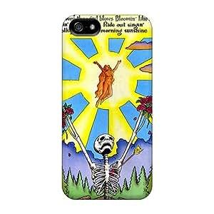 Iphone 5/5s JFk4234OGDB Customized Realistic Grateful Dead Pattern Scratch Resistant Hard Phone Covers -DannyLCHEUNG