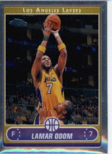 2006 Topps Chrome Card (2006 07 Topps Chrome Basketball Card #38 Lamar Odom Los Angeles Lakers)