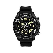Bulova Men's Black Chronograph Watch
