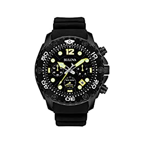 Bulova Men's Black Chronograph Watch