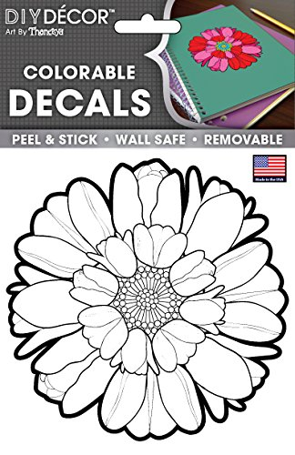 Amazon.com: The Peel People Peel & Stick Colorable Decals, Wall Safe ...
