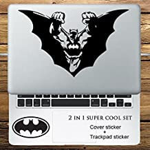 JeeJayEnterprise® BATMAN SUPER HERO 2 IN 1 COVER + TRACKPAD / KEYPAD / PALM REST SET VINYL DECAL STICKER FOR MACBOOK NOTEBOOK LAPTOP