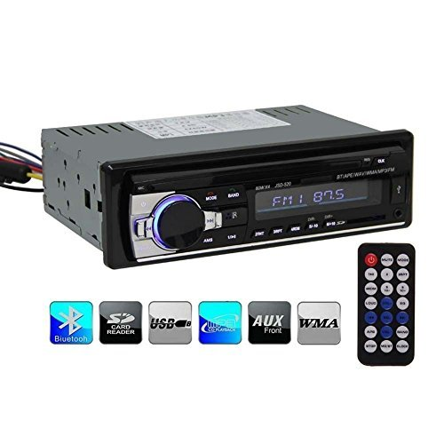 BlueFire Bluetooth Car Stereo Audio Single DIN In Dash 12V F