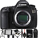 Canon EOS 5DS DSLR Camera (Body Only) 64GB Bundle 11PC Accessory Kit Which Includes 64GB Memory Card + MORE