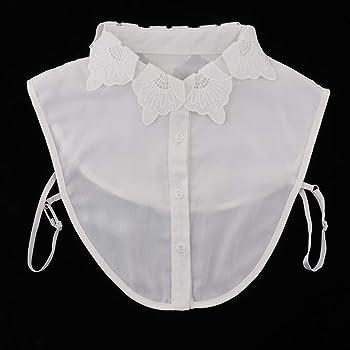 non-brand Cuello Falso de Blusa Encaje Bordado Desmontable Adornos de Disfraz para Mujer Chica - Blanco, tal como se describe: Amazon.es: Ropa y accesorios