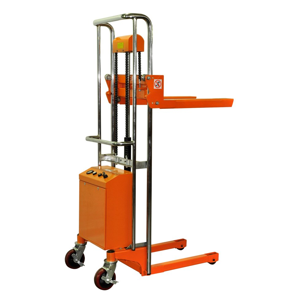 Bolton Tools New Key Operated Electric Powered Hand Forklift Stacker - 880 LB of Capacity - 51.2'' Max Height - Model ETF40-13