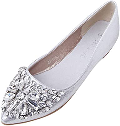 Clearance,Rhinestone Ballet Flats for