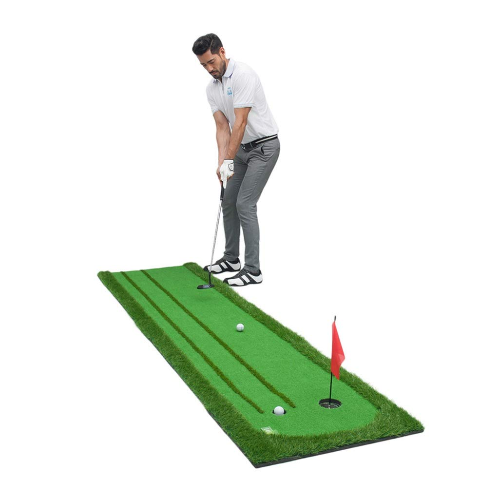 ゴルフパッティンググリーン家庭用屋内ゴルフパッティング練習ゴルフ場練習用ブランケット付き毛布送付ゴルフクラブ (Color : Green, Size : 75*300*5cm) 75*300*5cm Green B07QPTPG5C