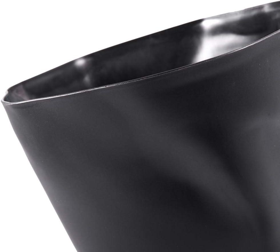 Monbedos Fold Cestino portarifiuti Domestici Soggiorno Camera Lidless plastica Cestino per Carta da Cucina Semplice cassonetto Bianco