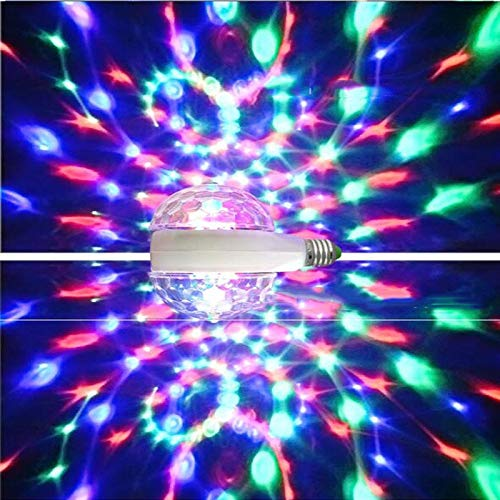 Double-Headed Auto Rotating Stage Light E27 LED Bulbs Magic Colorful Lighting Indoor Party Disco lamp Music Bar KTV DJ Lights